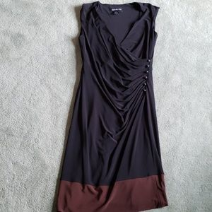 EUC Jones New York Sz 8 black/brown dress